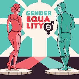 Gendergelijkheid en pro burgerrechten concept