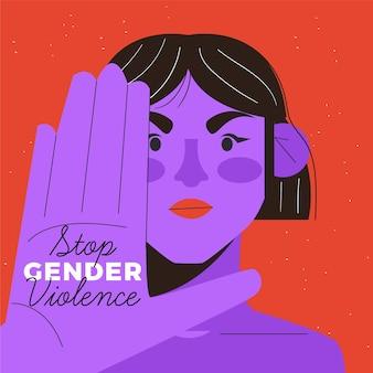Gendergeweld concept
