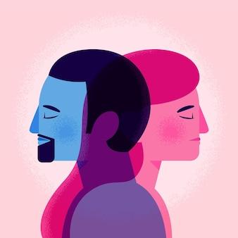 Genderidentiteit concept