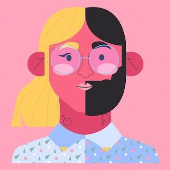 Genderneutrale beweging ik ben een mens