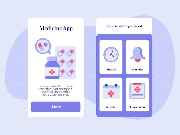 Geneeskunde app schema herinnering kalender informatie
