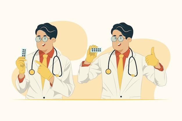 Geneeskunde concept illustratie