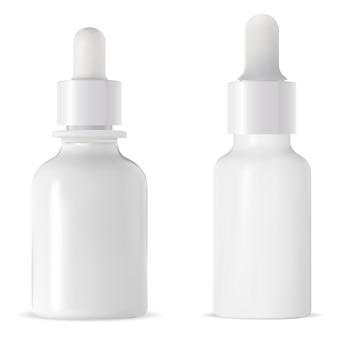 Geneeskunde druppelflesje. injectieflacon met pipet, geïsoleerd
