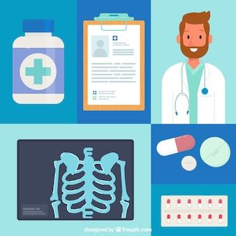 Geneeskunde elementen achtergrond