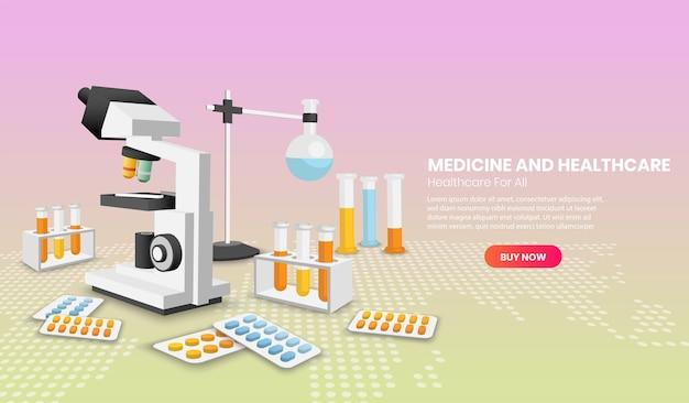 Geneeskunde en gezondheidszorg moderne banner
