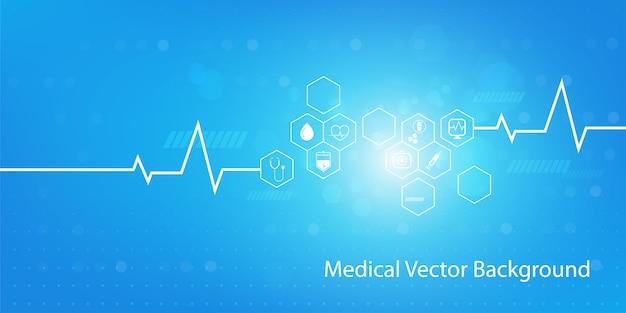 Geneeskunde en wetenschap concept achtergrond