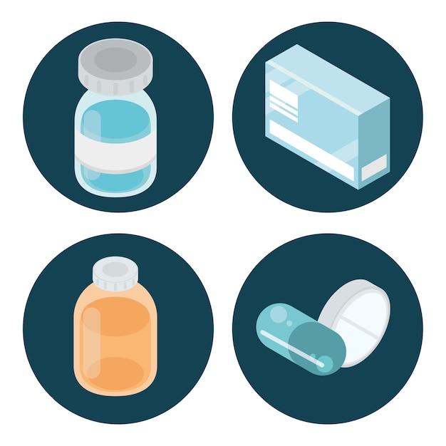 Geneeskunde gezondheidszorg set