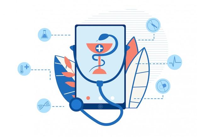 Geneeskunde, gezondheidszorg, therapie mobiele toepassing