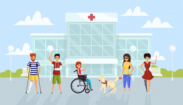 Geneeskunde, handicap, gezondheidszorg concept