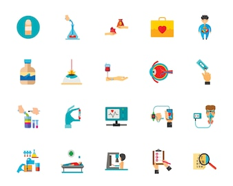 Geneeskunde pictogramserie