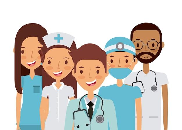 Geneeskunde professionele mensen
