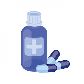 Geneeskundedrugs op wit