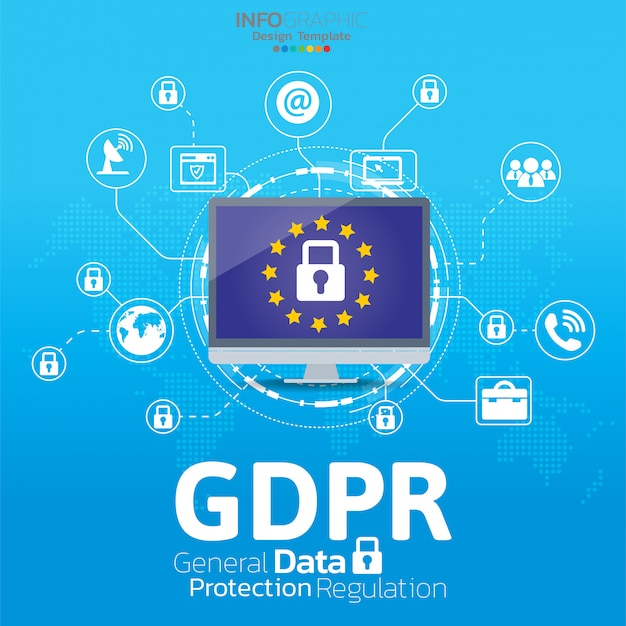 General data protection regulation (gdpr) concept.