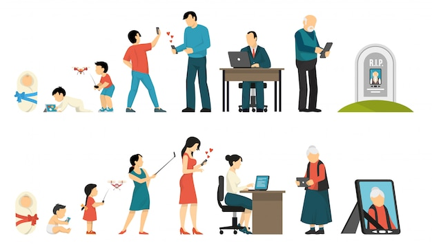 Generaties en gadgets samenstelling