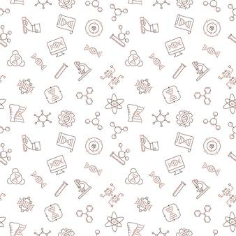 Genetica schetsen pictogrammen naadloos patroon