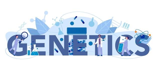 Genetica typografische header concept
