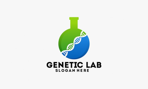 Genetisch laboratorium logo sjabloonontwerp