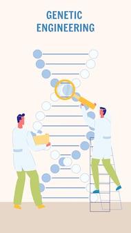 Genetische manipulatie flat vector flyer template