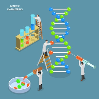 Genetische tests en engineering.