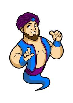 Genies mascot design