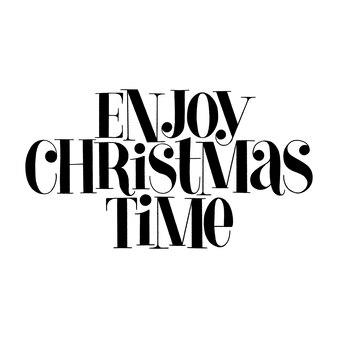 Geniet van de handgetekende belettering van de kersttijd voor de kersttijd