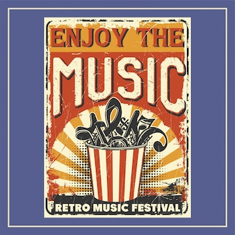 Geniet van de muziek-poster
