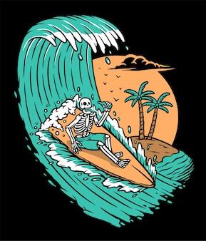 Geniet van de zeegolven
