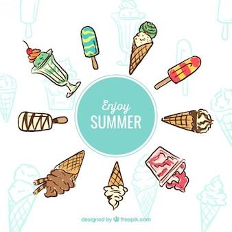 Geniet van de zomer ijsjes