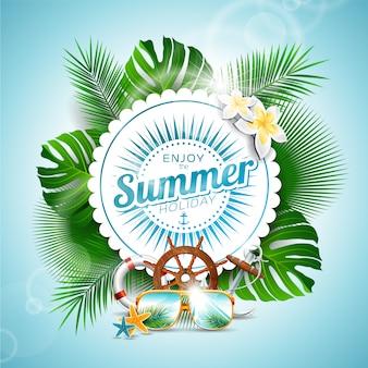 Geniet van de zomerachtergrond