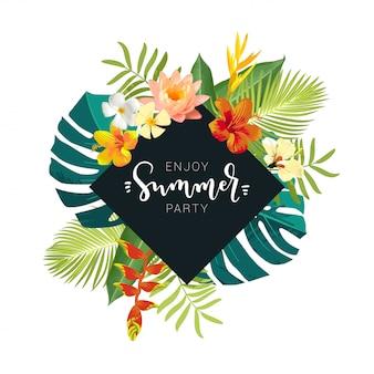 Geniet van de zomerfeestkaart