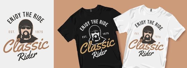 Geniet van het klassieke t-shirtontwerp van de rit