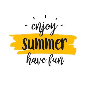 Geniet van summer lettering