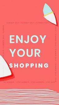 Geniet van uw winkelsjabloon voor de zomerverkoop