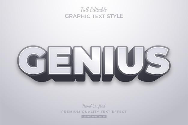 Genius clean modern bewerkbaar teksteffect lettertypestijl