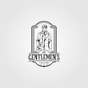 Gentleman logo mannelijke man