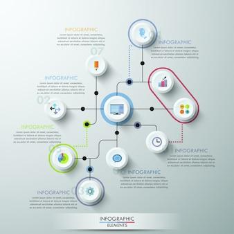 Genummerd cirkels infographic ontwerp