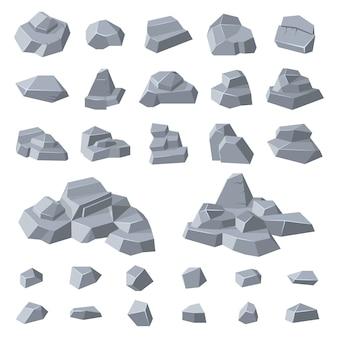 Geologie berg kiezelsteen illustratie