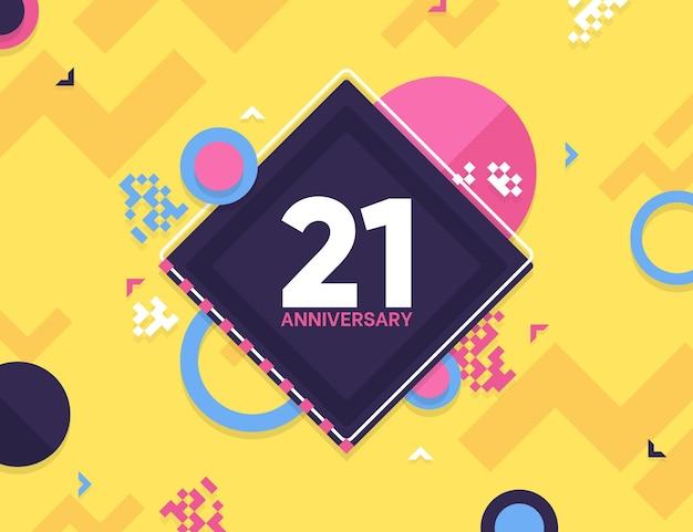 Geometrisch 21-jarig jubileumbehang