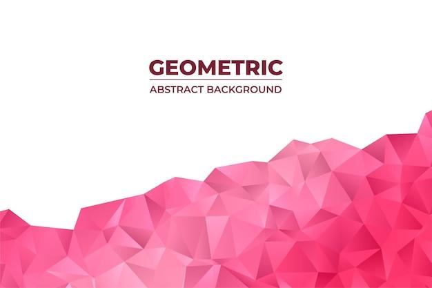 Geometrisch abstracte achtergrond met driehoek veelhoek