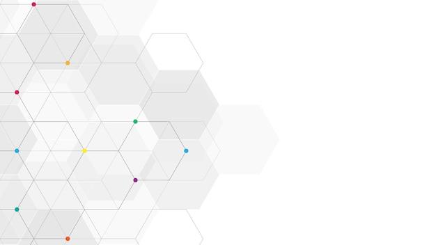 Geometrisch abstracte achtergrond met eenvoudige zeshoekige elementen