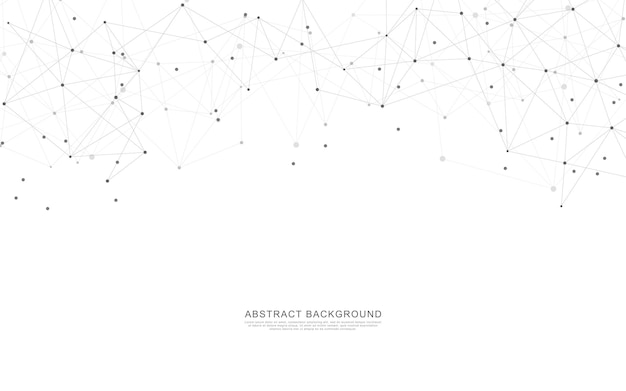 Geometrisch abstracte achtergrond met verbindende punten en lijnen