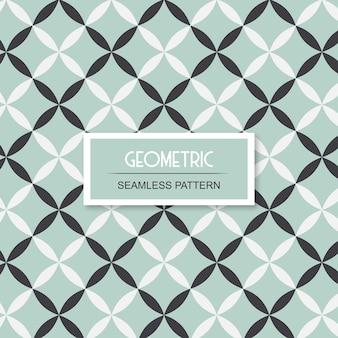 Geometrisch bloemen naadloos patroon