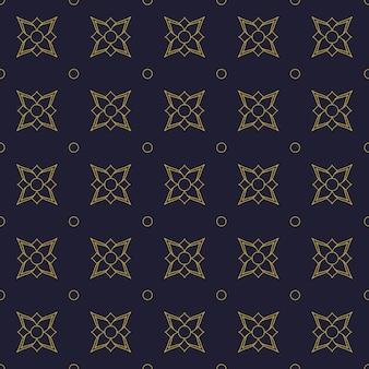 Geometrisch bloemen naadloos patroonbehang als achtergrond