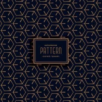 Geometrisch donker patroon gemaakt met lijnen