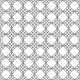 Geometrisch eenvoudig naadloos patroon in oost-stijl