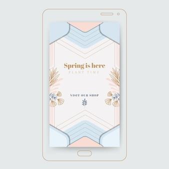 Geometrisch elegant lente instagram-verhaal
