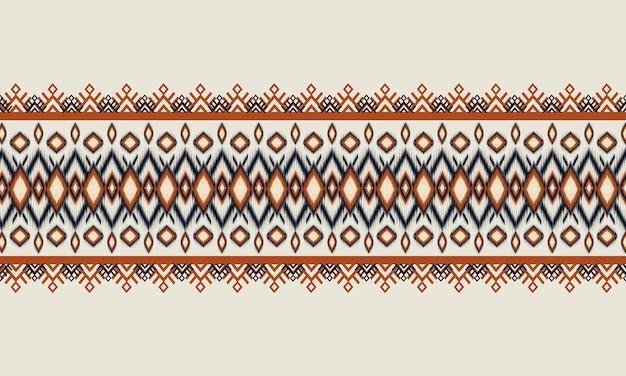 Geometrisch etnisch oosters ikatpatroon traditiona