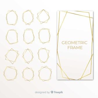 Geometrisch gouden kaderpak