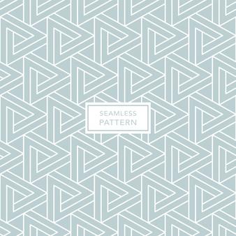 Geometrisch groen naadloos patroon met driehoeken