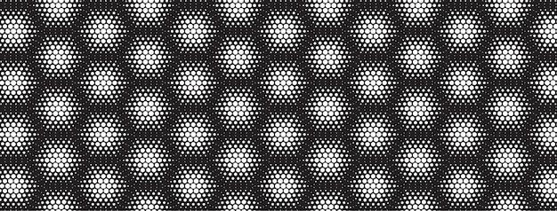 Geometrisch halftoonpatroon op zeshoekige achtergrond